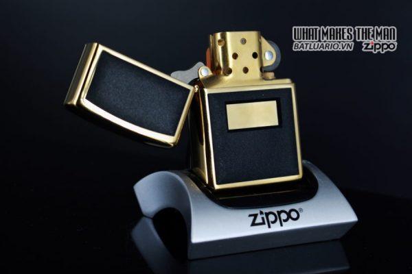 ZIPPO LA MÃ 1997 – ZIPPO ULTRALITE BLACK – GOLD PLATE 6