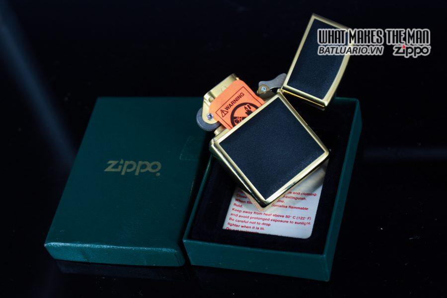 ZIPPO LA MÃ 1997 – ZIPPO ULTRALITE BLACK – GOLD PLATE 7