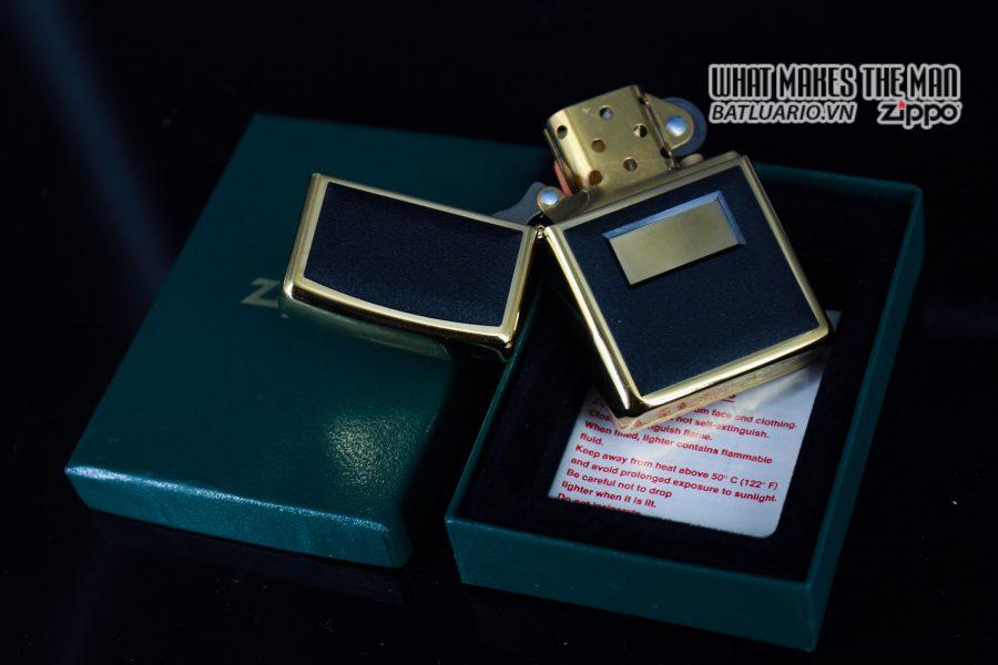 ZIPPO LA MÃ 1997 – ZIPPO ULTRALITE BLACK – GOLD PLATE 8