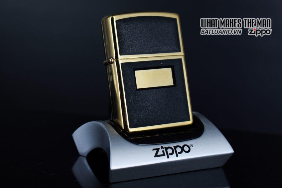 ZIPPO LA MÃ 1997 – ZIPPO ULTRALITE BLACK – GOLD PLATE