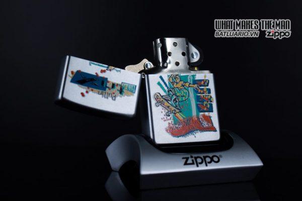 ZIPPO LA MÃ 2000 – SKATEBOARDING SKATEBOARDER PULLIN TRIX – SPORTS SERIES 10