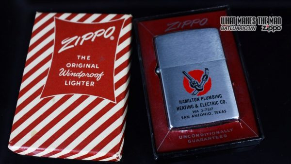 ZIPPO XƯA 1961 – HAMILTON PLUMBING HEATING & ELECTRIC CO 8