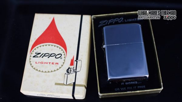 ZIPPO XƯA 1974 – PLAIN HIGH POLISHED – TRƠN 2 MẶT 1