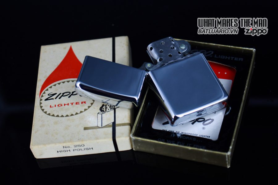 ZIPPO XƯA 1974 – PLAIN HIGH POLISHED – TRƠN 2 MẶT 10