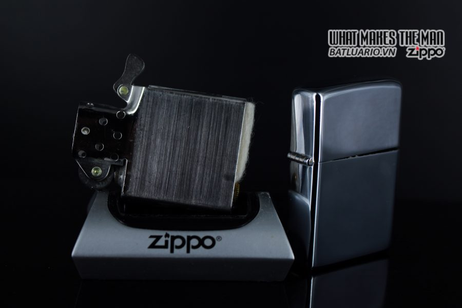 ZIPPO XƯA 1974 – PLAIN HIGH POLISHED – TRƠN 2 MẶT 2