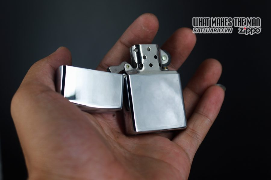ZIPPO XƯA 1974 – PLAIN HIGH POLISHED – TRƠN 2 MẶT 6