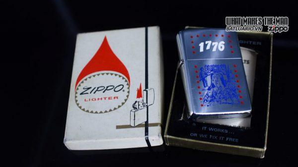 ZIPPO XƯA 1975 – 1776 BICENTENNIAL – KỶ NIỆM 200 NĂM HOA KỲ 9