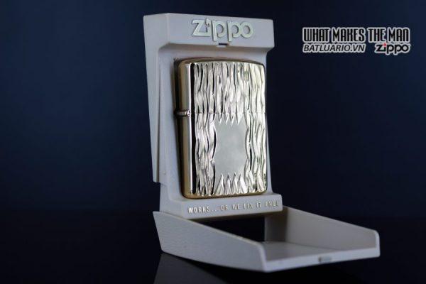 ZIPPO XƯA 1980 – GOLD PLATE GOLDEN ELEGANCE – MẠ VÀNG 22K 10