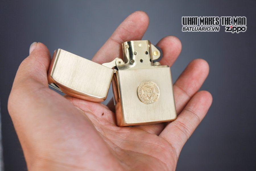 ZIPPO 1960S – 10K GOLD FILLED – LYNDON JOHNSON 10