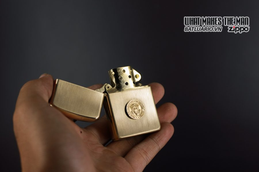ZIPPO 1960S – 10K GOLD FILLED – LYNDON JOHNSON 2