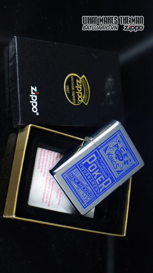 ZIPPO 2001 – ZIPPO MARLBORO ACES/KINGS BLUE WORLD CHAMPIONSHIP POKER 13