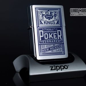 ZIPPO 2001 – ZIPPO MARLBORO ACES/KINGS BLUE WORLD CHAMPIONSHIP POKER