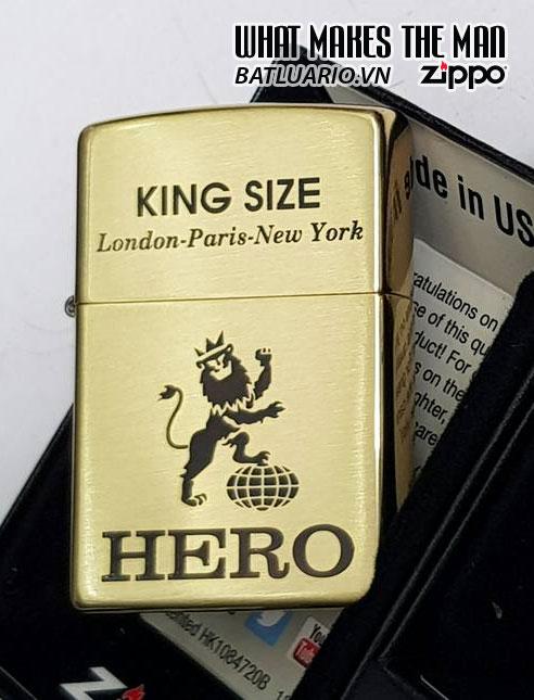 ZIPPO 204B KHẮC LOGO HERO - ZIPPO 204B.HERO