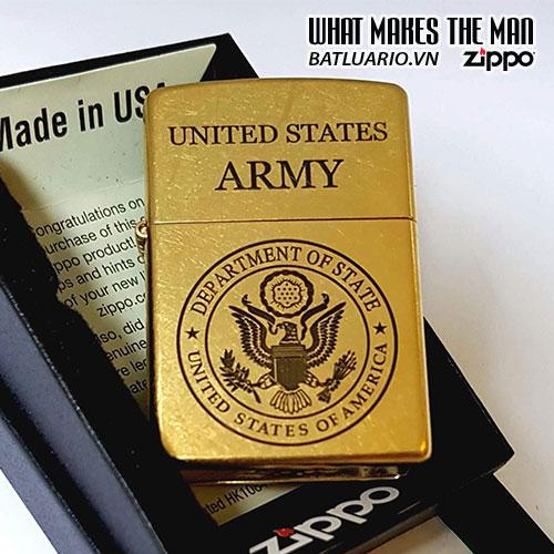 ZIPPO 207G KHẮC US ARMY – ZIPPO 207G.USARMY