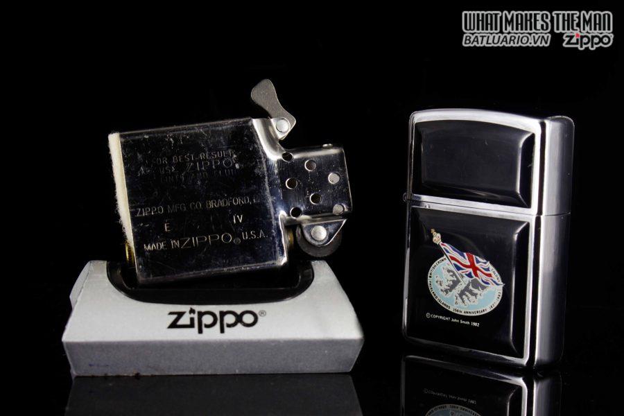 ZIPPO LA MÃ 1988 – ULTRALITE BLACK – FALKLAND ISLAND 150TH ANNIVERSARY 2