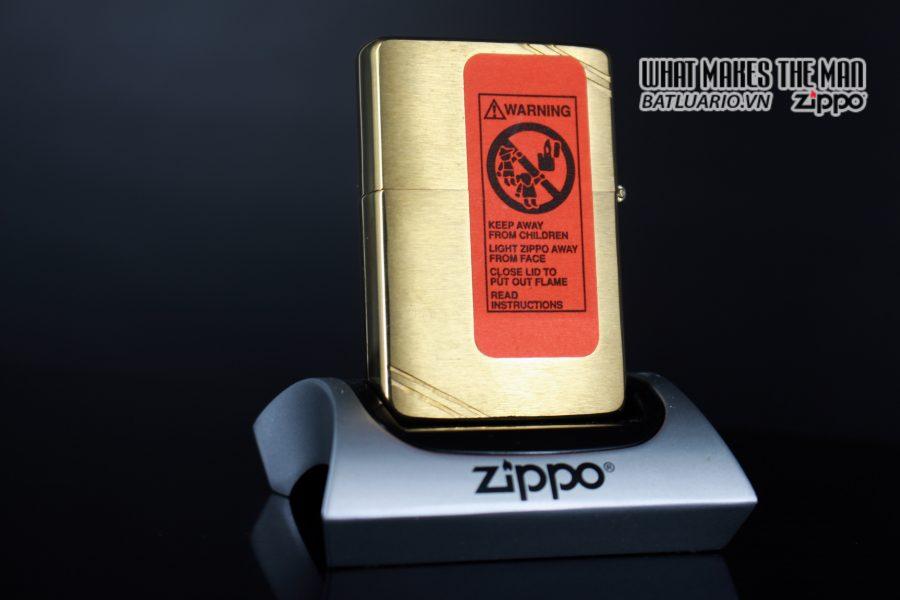 ZIPPO LA MÃ 1994 – VINTAGE REPLICA 1937 – ĐỒNG NGUYÊN KHỐI 2