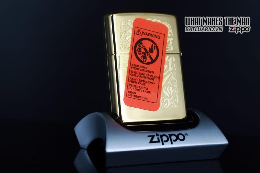 ZIPPO LA MÃ 1996 – CAMEL GOLD PLATE 22K – MẠ VÀNG 22K 1