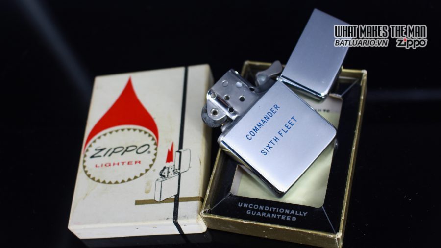 ZIPPO XƯA 1961 – ADMIRAL COMMANDER U.S. NAVY SIXTH FLEET PRESATION 7