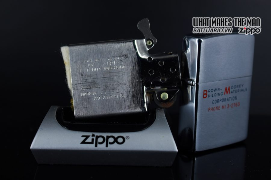 ZIPPO XƯA 1964 – BROWN MOONEY BUILDING MATERIALS 2