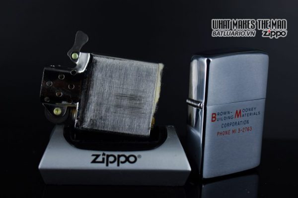 ZIPPO XƯA 1964 – BROWN MOONEY BUILDING MATERIALS 3