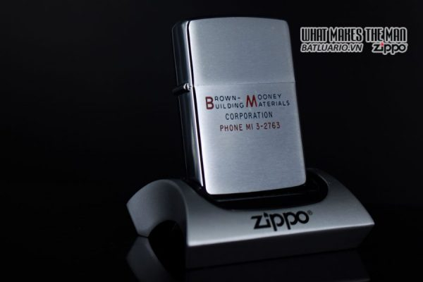 ZIPPO XƯA 1964 – BROWN MOONEY BUILDING MATERIALS