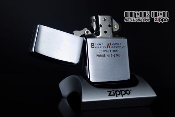 ZIPPO XƯA 1964 – BROWN MOONEY BUILDING MATERIALS 9