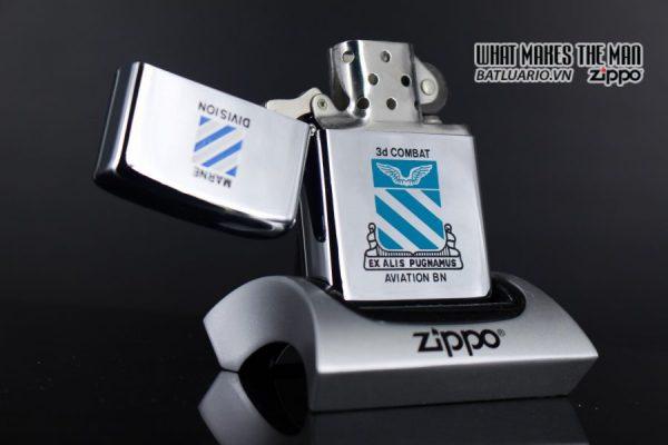 ZIPPO XƯA 1975 - MARNE DIVIDION 3D COMBAT AVIATION BN 6