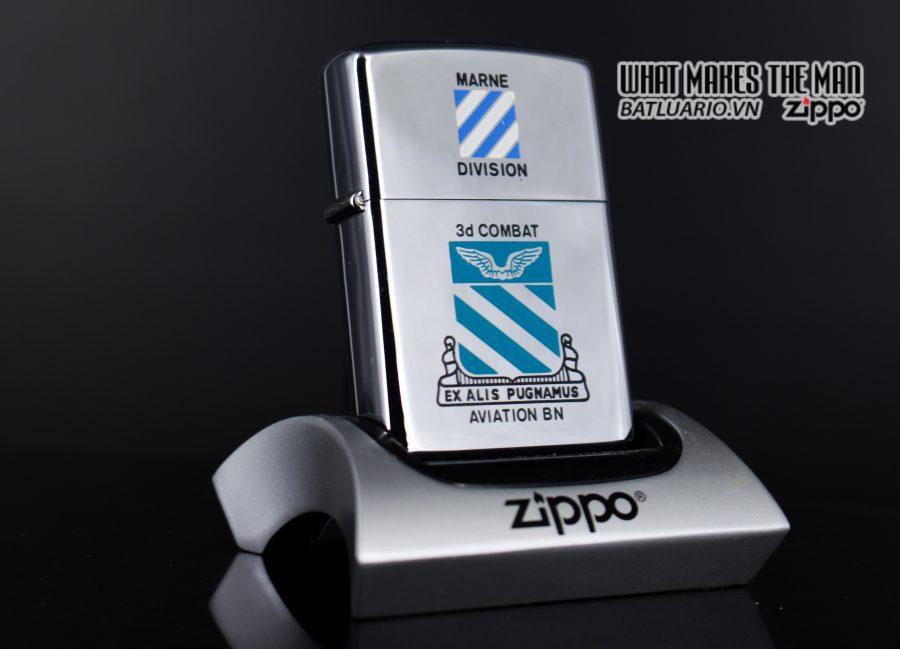 ZIPPO XƯA 1975 - MARNE DIVIDION 3D COMBAT AVIATION BN