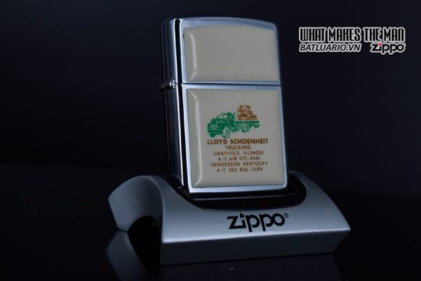 ZIPPO 1982 – IVORY ULTRALITES – LLOYD SCHOENHEIT TRUCKING