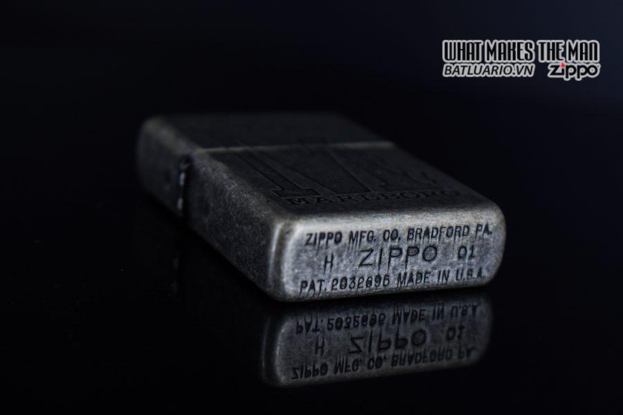 ZIPPO 2001 – MARLBORO BIG M – ANTIQUE SILVER 3