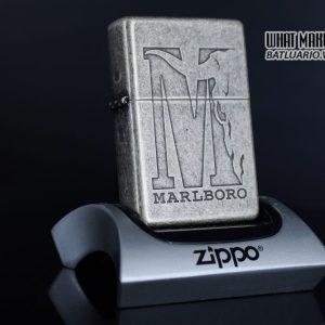 ZIPPO 2001 – MARLBORO BIG M – ANTIQUE SILVER