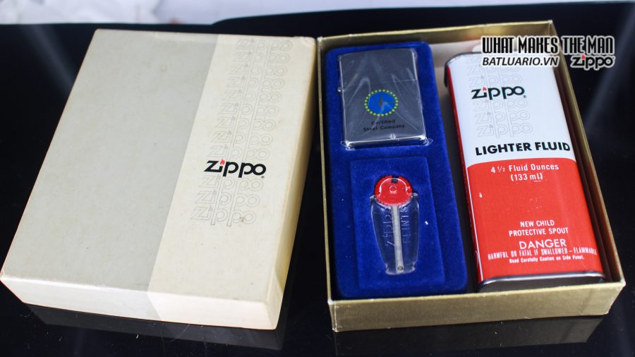 ZIPPO GIFT SET – ZIPPO 1981 – CERTIFIED STEEL COMPANY