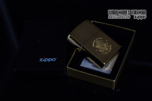 ZIPPO LA MÃ 1989 – GOLD PLATE – AMERICAN EMBASSY JAKARTA INDONESIA 1