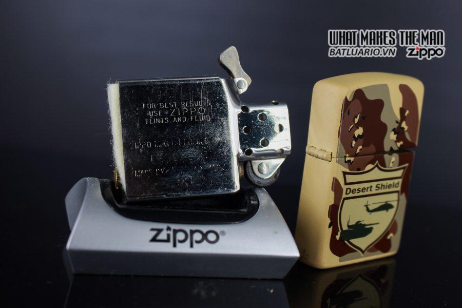 ZIPPO LA MÃ 1990 – CAMO – DESERT SHIELD 3
