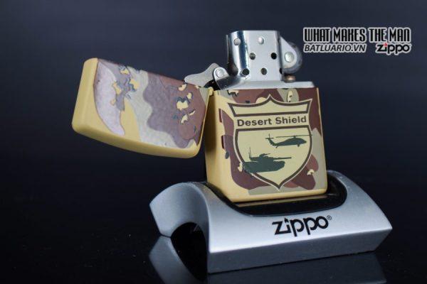 ZIPPO LA MÃ 1990 – CAMO – DESERT SHIELD 8