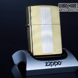 ZIPPO LA MÃ 1994 – GOLD PLATE – DEMI SILVER