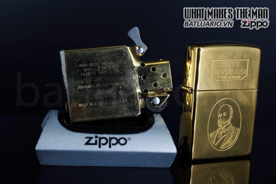 ZIPPO LA MÃ 1995 – ĐỒNG NGUYÊN KHỐI – KING EDWARD THE SEVENTH 6