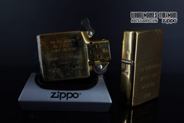 ZIPPO LA MÃ 1997 – VINTAGE REPLICA 1937 – TO GRANDAD WITH LOVE 3