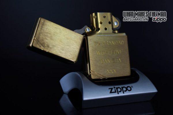 ZIPPO LA MÃ 1997 – VINTAGE REPLICA 1937 – TO GRANDAD WITH LOVE 6