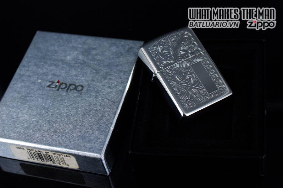 Zippo La Mã 1999 – Venetian – Silver Plate 1