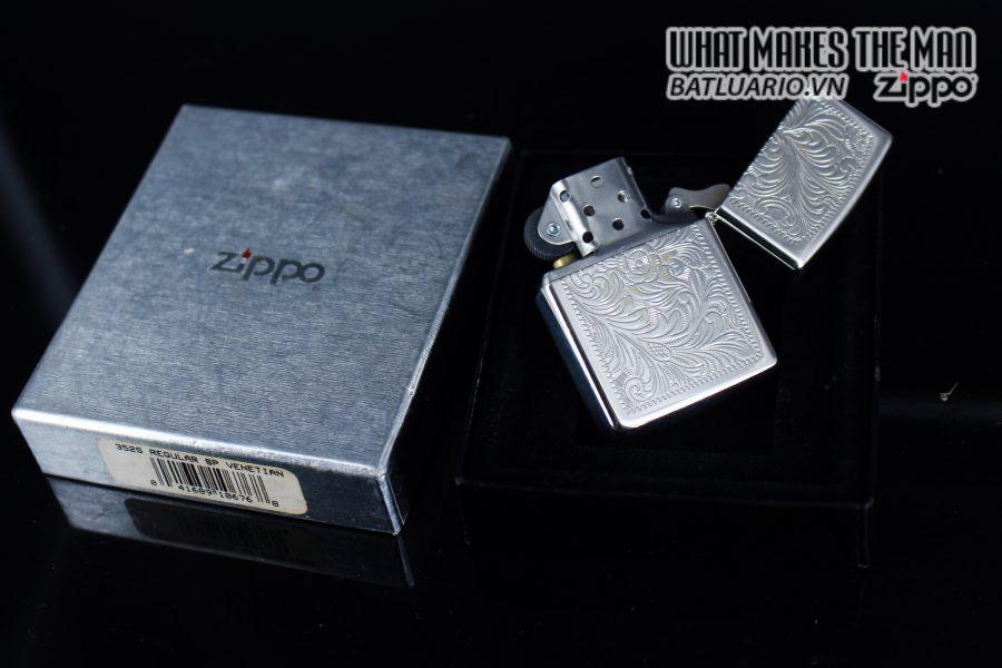 Zippo La Mã 1999 – Venetian – Silver Plate