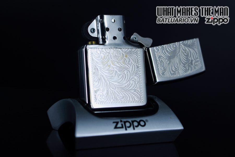 Zippo La Mã 1999 – Venetian – Silver Plate 3