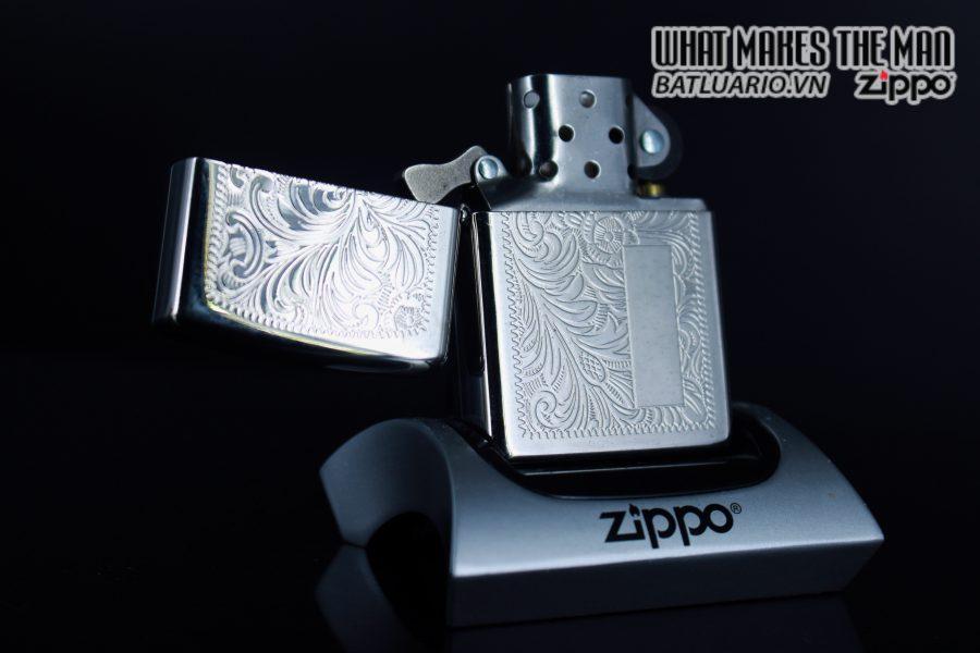 Zippo La Mã 1999 – Venetian – Silver Plate 4