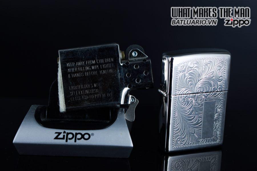 Zippo La Mã 1999 – Venetian – Silver Plate 5