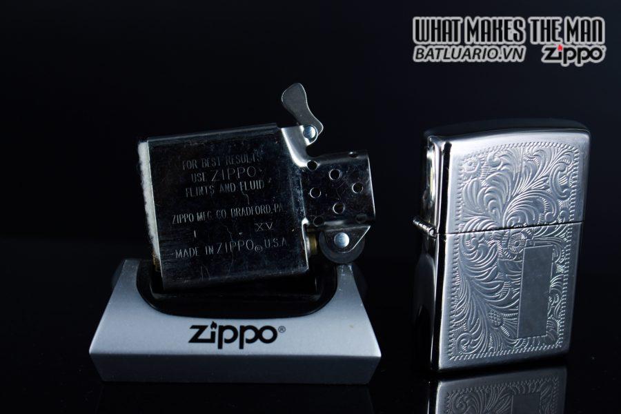 Zippo La Mã 1999 – Venetian – Silver Plate 6