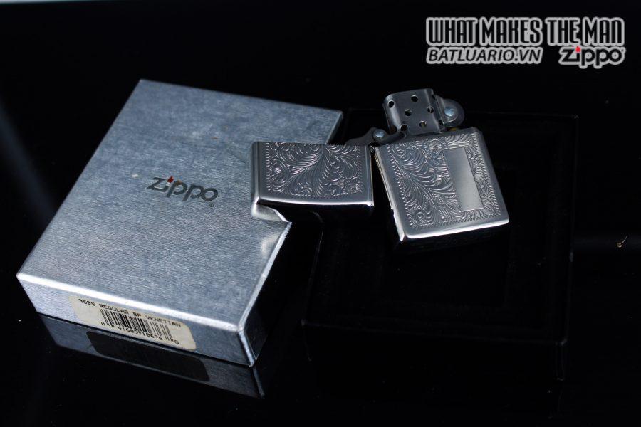 Zippo La Mã 1999 – Venetian – Silver Plate 9