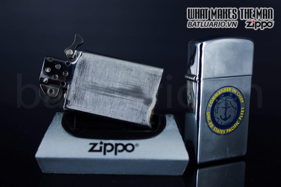 ZIPPO SLIM XƯA 1964 – COMMANDER IN CHIEF – UNITED STATES PACIFIC FLEET 2