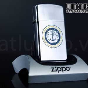 ZIPPO SLIM XƯA 1964 – COMMANDER IN CHIEF – UNITED STATES PACIFIC FLEET