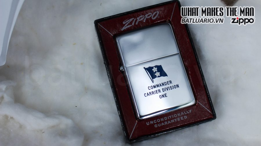 ZIPPO XƯA 1955 – 1956 – COMMANDER CARRIER DIVISION ONE 1