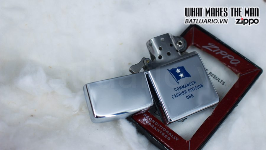 ZIPPO XƯA 1955 – 1956 – COMMANDER CARRIER DIVISION ONE 6
